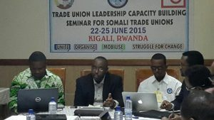 Trade Union Leadership Training for Somali Trade Unions held in Kigali