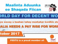 Celebration of World Day for Decent Work