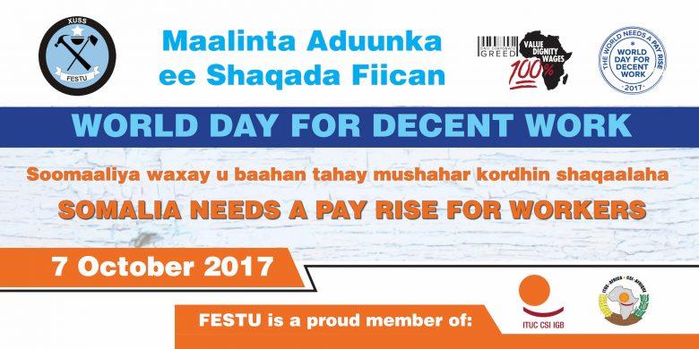 Celebration of World Day for Decent Work